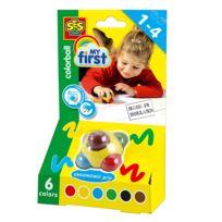 Ses Creative - Crayons Crayons en cire : Color ball fluo