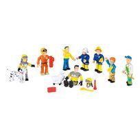 Smoby - Sam le Pompier - Coffret 10 figurines Sam le Pompier