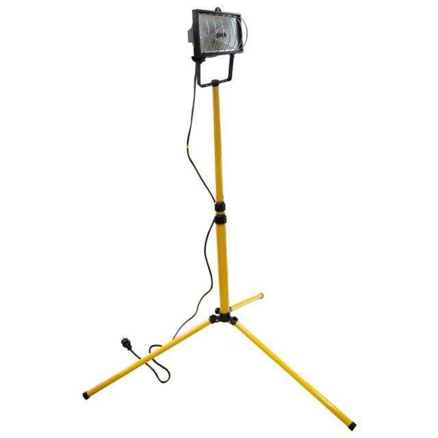 tibelec projecteur sur pied de chantier 400w t lescopique pas cher achat vente lampadaire. Black Bedroom Furniture Sets. Home Design Ideas