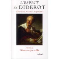 Balland - l'esprit de Diderot ; recueil de maximes et pensée