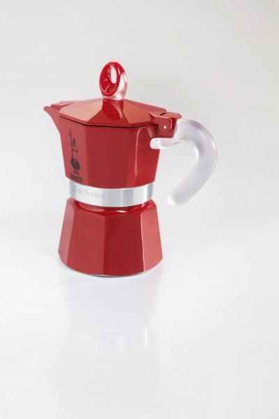 BIALETTI cafetière italienne 3 tasses rouge - 0004332