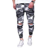 Kc 1981 - Jeans déchiré camouflage Jeans 3215 blanc