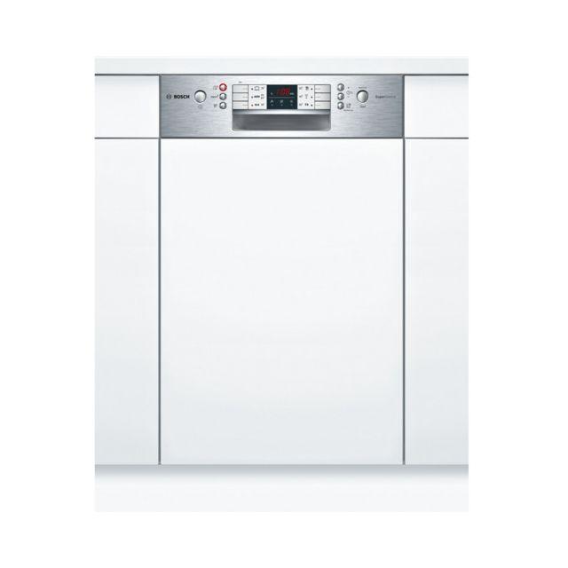 Bosch lave-vaisselle 45cm 9c 44db a+ intégrable avec bandeau inox - spi46is01e