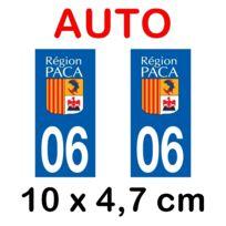 Mygoodprice - Autocollant plaque immatriculation voiture dpt 06 Alpes Maritimes
