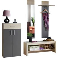 meuble entree vestiaire achat meuble entree vestiaire pas cher rue du commerce. Black Bedroom Furniture Sets. Home Design Ideas