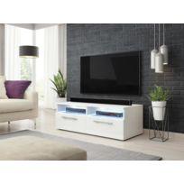 Vivaldi Meuble Tv Bonn 100 Cm Noir Mat Noir Brillant Led Style Moderne Pas Cher Achat Vente Meubles Tv Hi Fi Rueducommerce