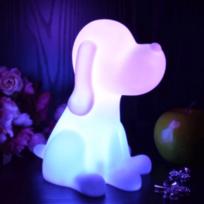 Kosilum - Lampe de chevet chien Led sans fil multicouleurs