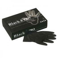 Sibel - Gants latex noir satin Taille small 20 pièces