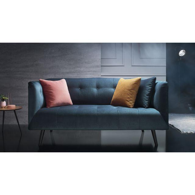 bobochic canap paris 3 places fixe bleu canard achat vente canap s pas chers. Black Bedroom Furniture Sets. Home Design Ideas