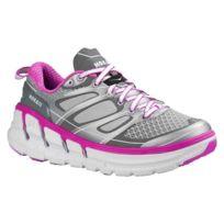 Hoka One One - Conquest 2 Grise Et Fushia Chaussures de running femme