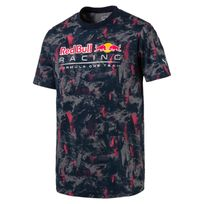 Puma - Red Bull Allover Bleu T-shirts Manches Courtes Homme Multisports