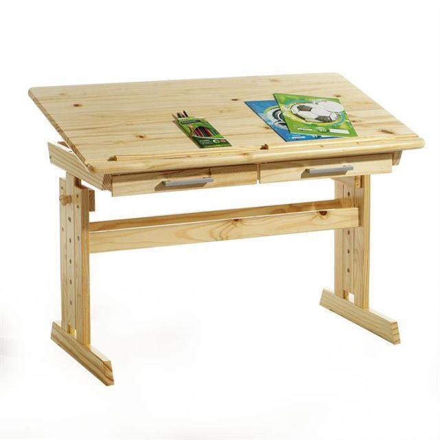 idimex bureau enfant colier junior olivia table dessin r glable en hauteur et pupitre. Black Bedroom Furniture Sets. Home Design Ideas