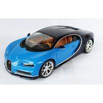 Burago - Voiture Bugatti Chiron Bleue Echelle 1/18