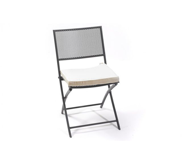 Dcb Garden Chaise pliante perforée noire