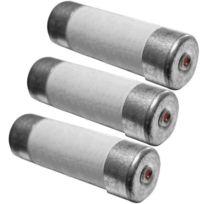 Zenitech - 3 fusibles céramique 10,3x31,5mm 25A avec voyant