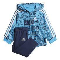 2da46ffde73d4 Adidas - Ensemble sportswear Linear Hoodie Fleece rose mat rose ...