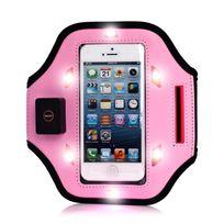 Coquediscount - Brassard rose lumineux à Led pour iPhone 5 / 5S