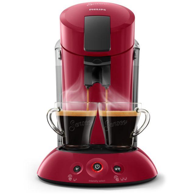 PHILIPS Cafetière Senseo Original XL - HD6555_81 - Rouge Technologie SENSEO® Booster d'arômes - Technologie Crema plus - Réservoir d'eau XL - Rouge intense