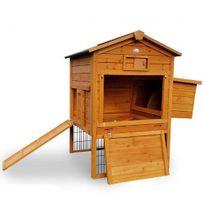 LBHJARDIN - Poulailler en bois 2/6 poules Lbh Jardin - Lodge