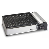 Kemper - Barbecue grill à gaz de table compact plaque anti adhesive balcons terrrasses camping