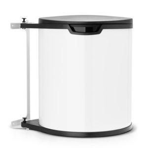 brabantia poubelle de porte fixer avec seau int rieur 15 litres built in blanc pas cher. Black Bedroom Furniture Sets. Home Design Ideas