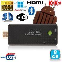 Yonis - Mini Pc Android Kitkat 4.4 Quad Core Tv Box Full Hd Bluetooth 8Go