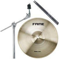 """Fame - Pack Cymbale Crash 12"""" Perchette Baguettes"""