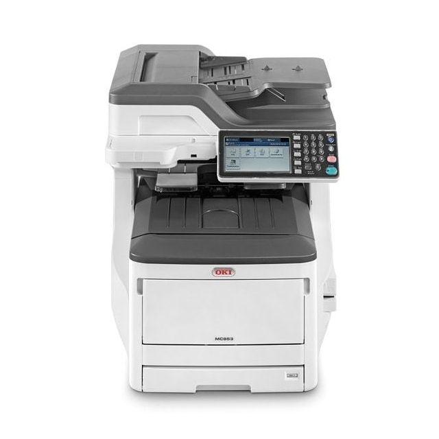 oki imprimante multifonction mc853dn usb lan copie scan fax laser couleur pas cher achat. Black Bedroom Furniture Sets. Home Design Ideas