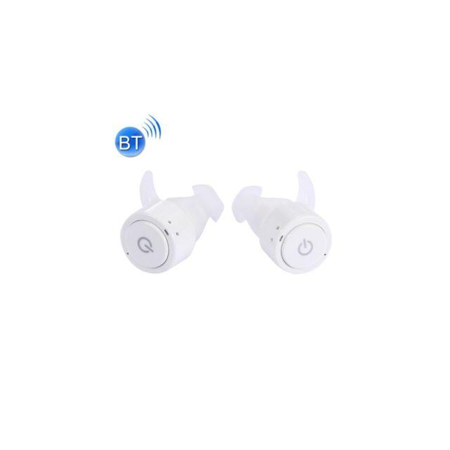 Auto-hightech - Écouteur stéréo intra-auriculaire sans fil Bluetooth avec micro et boîtier d'alimentation de charge mobile, pour iPhone / iPad