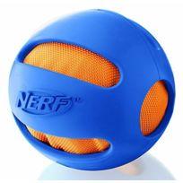 Nerf - Jouet chien dog crunchable ball bleu