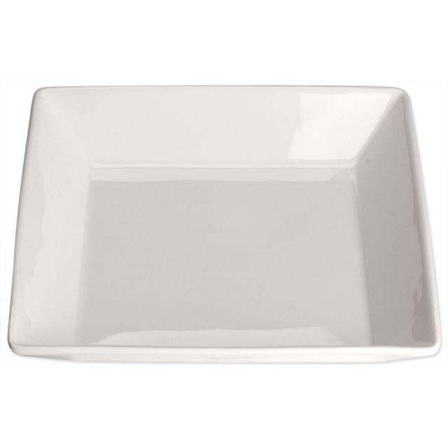 Materiel Chr Pro Assiette Creuse Carrée Porcelaine Elegantia 235 x 235 mm - Lot de 4 - Stalgast - Porcelaine