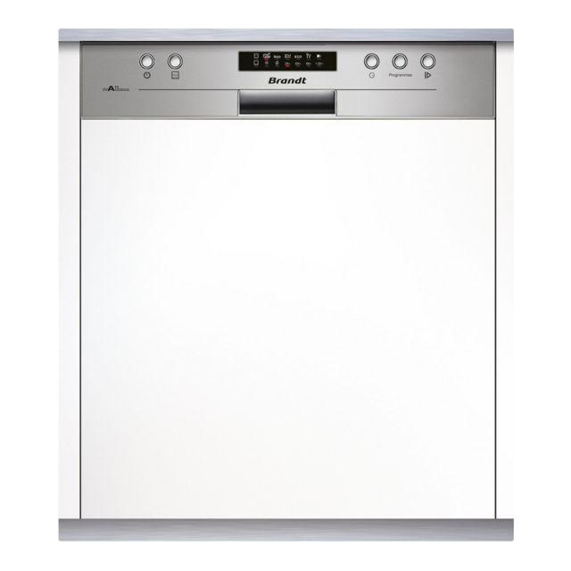 Brandt lave-vaisselle 60cm 14c 44db a++ intégrable avec bandeau inox - vh1704x