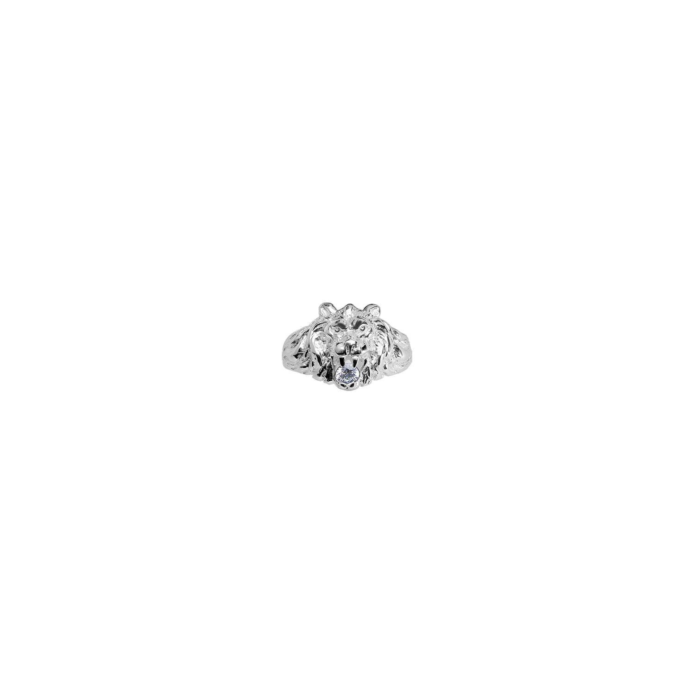 1507de5f3e9 SOCHICBIJOUX- So Chic Bijoux © Bague Chevalière Homme Lion Grand Modèle  Oxyde de Zirconium Blanc