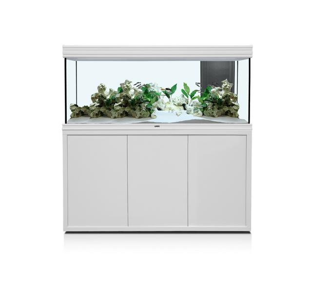 Aquatlantis meuble fusion 150x50 blanc pas cher achat vente accessoires aquarium for Meuble 60x40