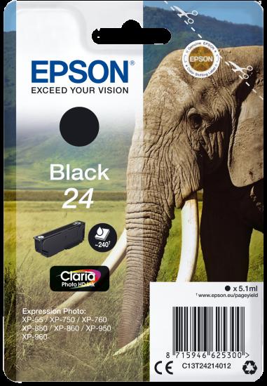 Cartouche Elephant - Encre Claria Photo HD Noir
