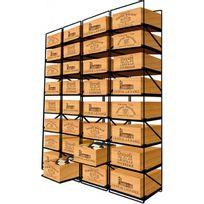 Modulorack - Racks coulissants pour 32 caisses de vin en Bois soit 384 bouteilles - Aci-mod513V