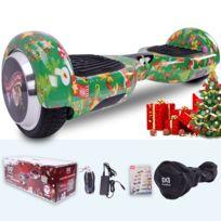 COOL&FUN Hoverboard Spécial Noël, Scooter électrique Auto-équilibrage,gyropode 6,5 pouces Spécial Noël vert