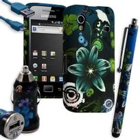 Karylax - Housse Étui Coque En Gel + Chargeur Voiture Auto + Stylet Pour Samsung Galaxy Ace S5830 S5839i Avec Motif Hf09