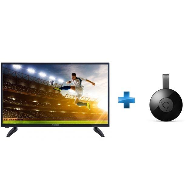 54d4f4b781bbb2 TECHWOOD TV LED 32   81 cm TK32DHD30016 + Chromecast pas cher ...