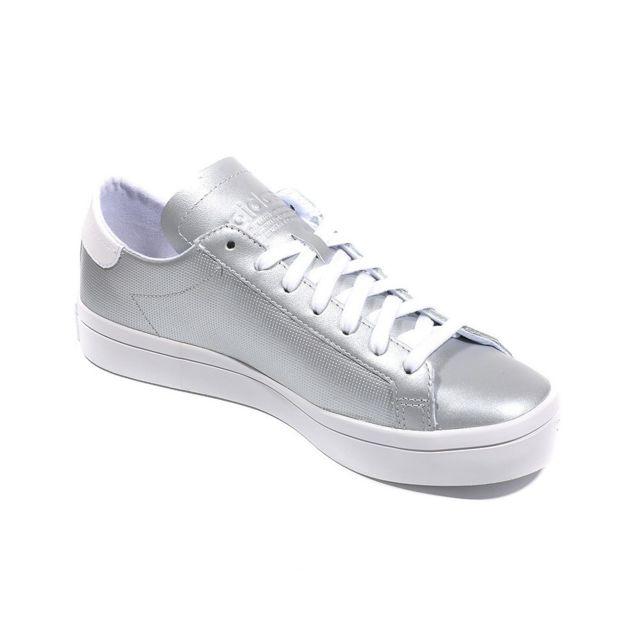 Adidas Chaussures Court Vantage Argent Femme Gris 37 13