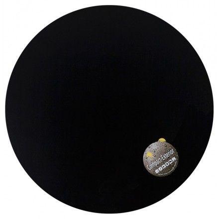 TECHNEB Plateau de table VERA rond en polymère 60cmX60cmX 3cm, noir
