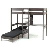 soldes lit mezzanine 90x200 2e d marque lit mezzanine 90x200 pas cher rueducommerce. Black Bedroom Furniture Sets. Home Design Ideas