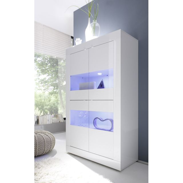 Kasalinea Vaisselier blanc laqué design Ariel