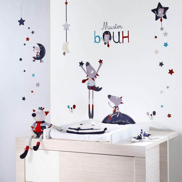 Sauthon Mister Bouh Stickers Muraux Pas Cher Achat Vente