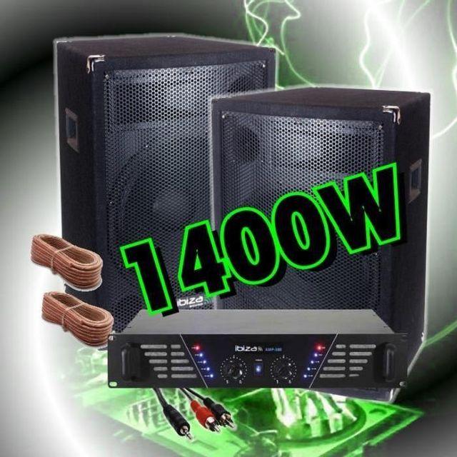 Ibiza Sound Dj pack sono 1400w avec ampli sono - 2 enceintes 700w prix fou