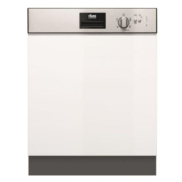 FAURE lave-vaisselle 60cm 13c 49db a+++ intégrable avec bandeau inox - fdi22003xa