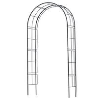 Rocambolesk - Superbe Arche de jardin en métal noir Nature 6040802 Neuf