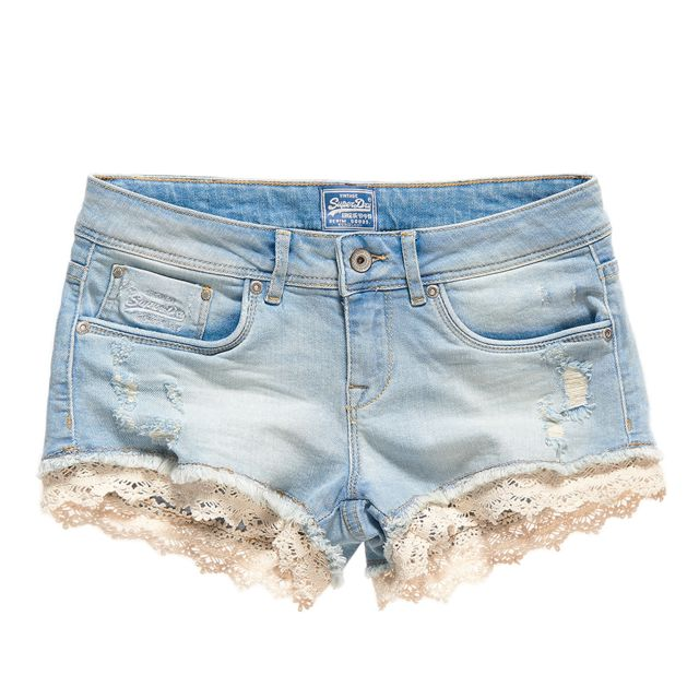 Lace Hot Short Superdry Jeans 28 Bleu Femme Superdry Taille 5zwRqw