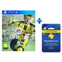 EA GAMES - FIFA 17 - PS4 + Carte Playstation Plus - Abonnement 12 mois