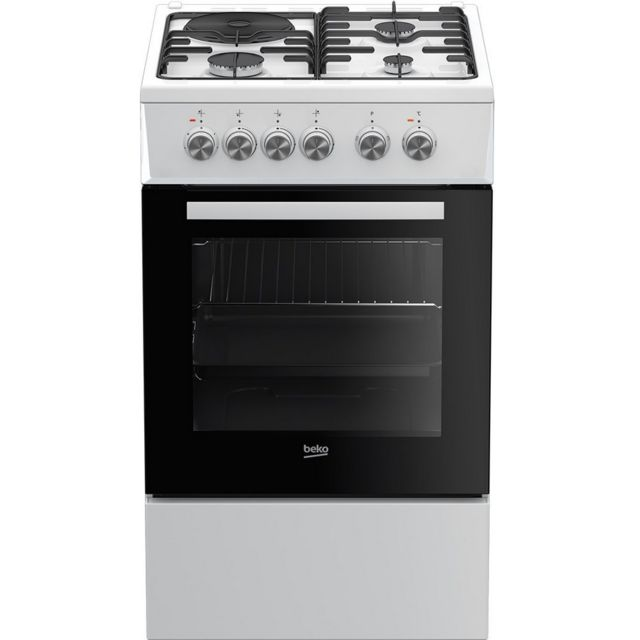 beko cuisini re mixte 60l 4 foyers blanc fss53000dw achat vente cuisini re mixte pas cher. Black Bedroom Furniture Sets. Home Design Ideas